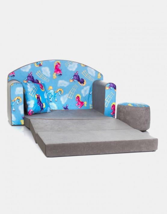 COCO-baby Kindersofa aus Schaumstoff mit Bettfunktion 3in1 (2kn)