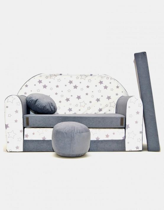 Welox Kindersofa aus Schaumstoff mit Kissen und Matratze A38