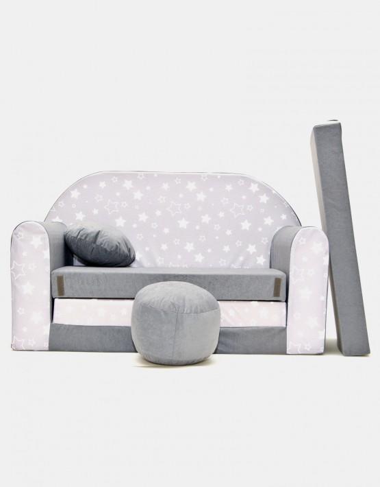 Welox Kindersofa aus Schaumstoff mit Kissen und Matratze A39