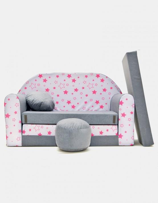Welox Kindersofa aus Schaumstoff mit Kissen und Matratze A40