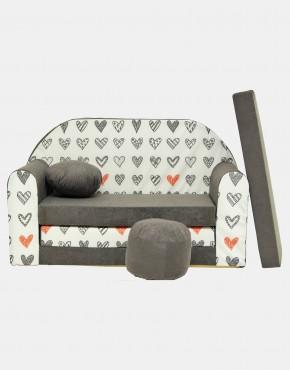 Welox Kindersofa aus Schaumstoff mit Kissen und Matratze A45