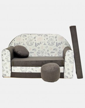 Welox Kindersofa aus Schaumstoff mit Kissen und Matratze A47