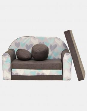 Welox Kindersofa aus Schaumstoff mit Kissen und Matratze A49