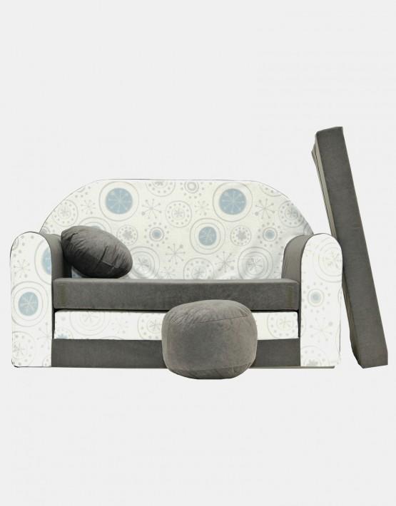 Welox Kindersofa aus Schaumstoff mit Kissen und Matratze A50
