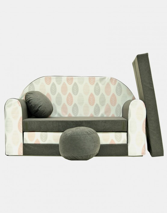 Welox Kindersofa aus Schaumstoff mit Kissen und Matratze A51