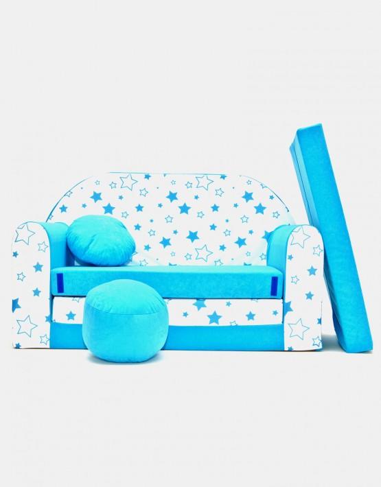 Welox Kindersofa aus Schaumstoff mit Kissen und Matratze B38