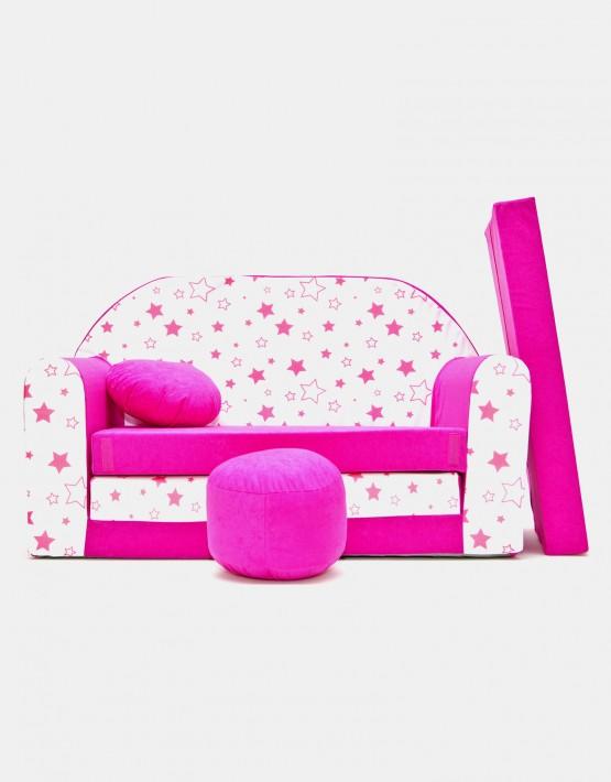 Welox Kindersofa aus Schaumstoff mit Kissen und Matratze H38
