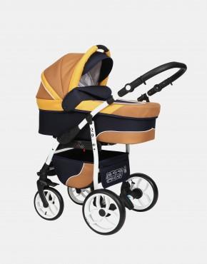 Baby Merc Q9 3in1 Q9-95C Dunkelblau-Karamell-Gelb