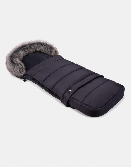 Cottonmoose Footmuff Moose Combi mit Fell Graphit-Graphit
