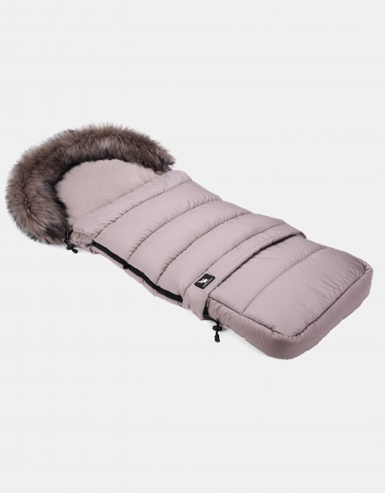 Cottonmoose Footmuff Moose Combi mit Fell Latte-Latte