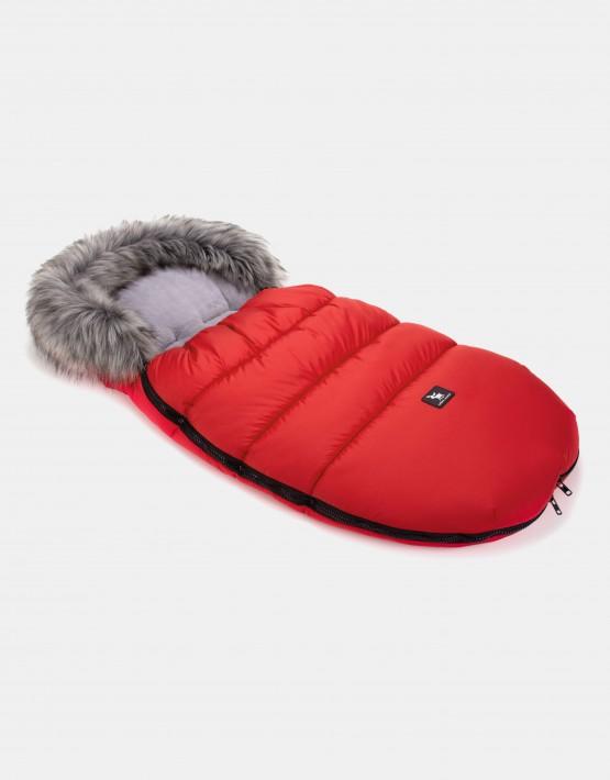 Cottonmoose Footmuff Moose Rot-Grau