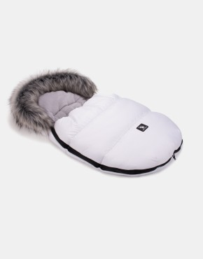 Cottonmoose Footmuff Mini Moose Weiß - Grau