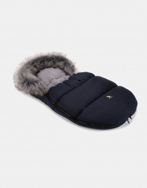 Cottonmoose Footmuff Mini Moose Dunkelblau - Grau