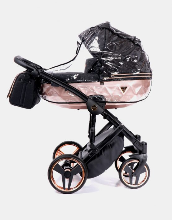 Junama Mirror Satin 02 Schwarz - Kupfer + Cybex Cloud Z 4in1