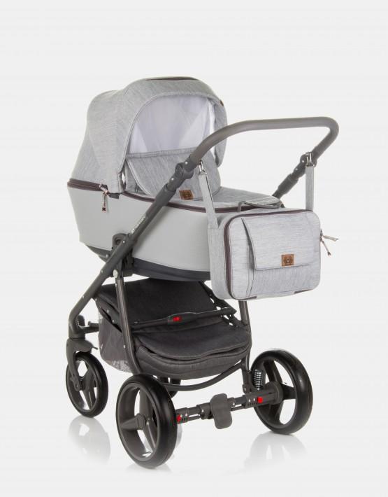 Adamex Reggio Premium Y56 Grau - Grau Leder 3in1