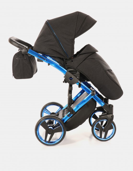 Junama Diamond Individual 02 Blau-Schwarz + Cybex Cloud Deep Black + Autobase Z 4in1