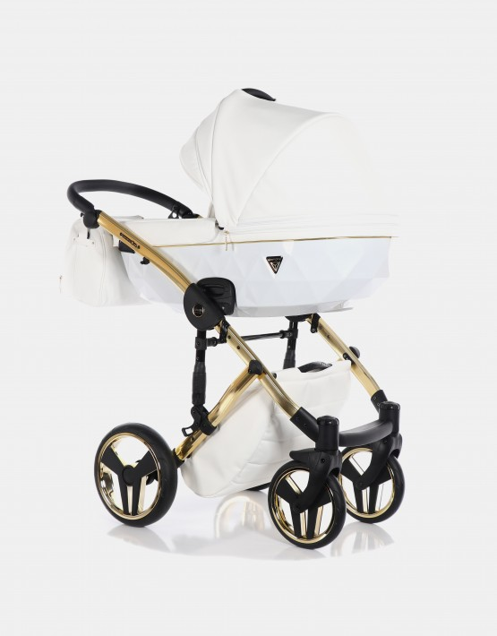 Junama Diamond Individual 04 Gold-Weiß 3in1 + Cybex Cloud Deep Black + Autobase Z 4in1