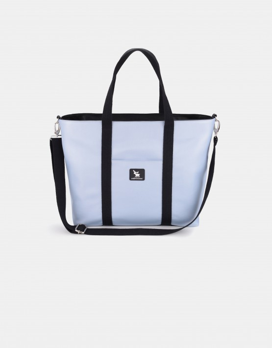 Cottonmoose Wickeltasche Shopper Bag 750/151 Pearl Blue Leather