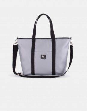 Cottonmoose Wickeltasche Shopper Bag 750/147 Pearl Grey Leather