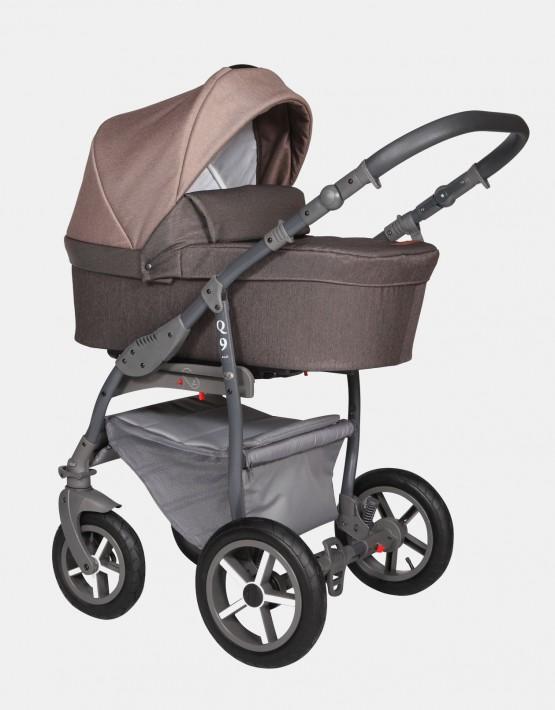 Baby Merc Q9 175A Schokolade Braun - Graues Gestell 2in1