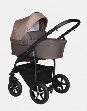 Baby Merc Q9 175B Schokolade Braun - Schwarzes Gestell 3in1