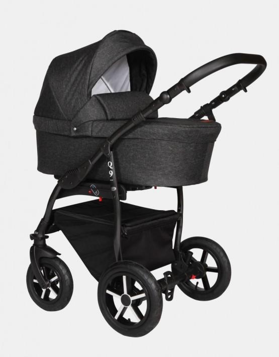 Baby Merc Q9 176B Schwarz - Schwarzes Gestell  3in1