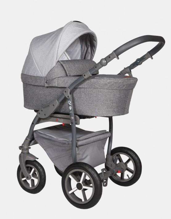 Baby Merc Q9 179A Athrazit Grau - Graues Gestell 2in1