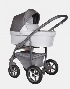 Baby Merc Q9 180A Dunkelgrau Grau - Graues Gestell 3in1
