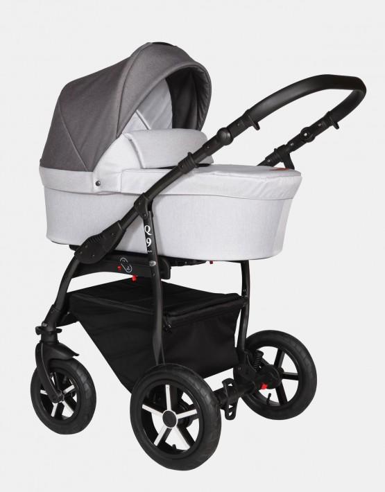 Baby Merc Q9 180B Dunkelgrau-Grau - Schwarzes Gestell 3in1