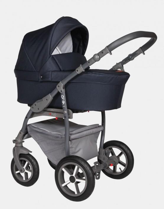 Baby Merc Q9 181A Dunkelblau - Graues Gestell 2in1