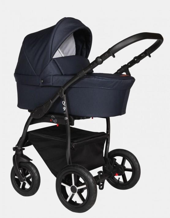 Baby Merc Q9 181B  Dunkelblau - Schwarzes Gestell 2in1