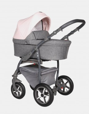 Baby Merc Q9 183A Anthrazit Pastelrosa - Graues Gestell 3in1