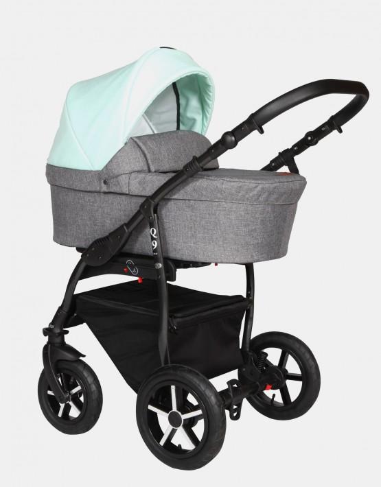 Baby Merc Q9 184B  Anthrazit Mint - Schwarzes Gestell 2in1