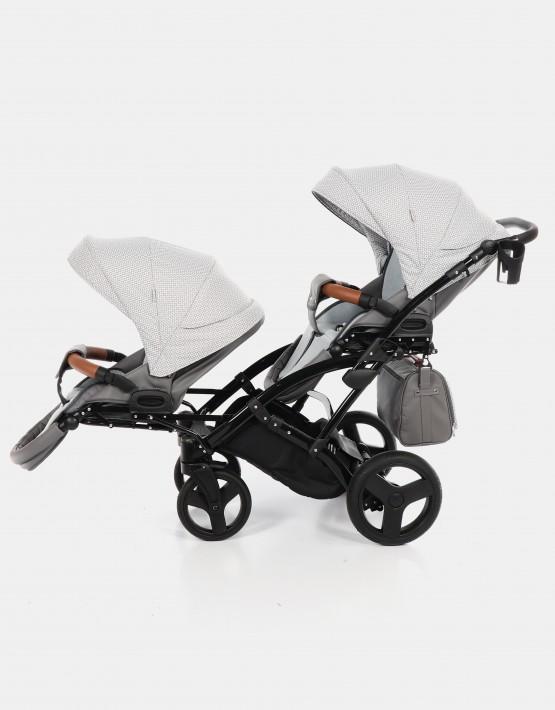 Junama Madena Duo Slim 01 Grau Dunkelgrau gemustert 3in1