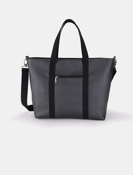 Cottonmoose Wickeltasche Shopper Bag 750/148 Pearl Black Leather