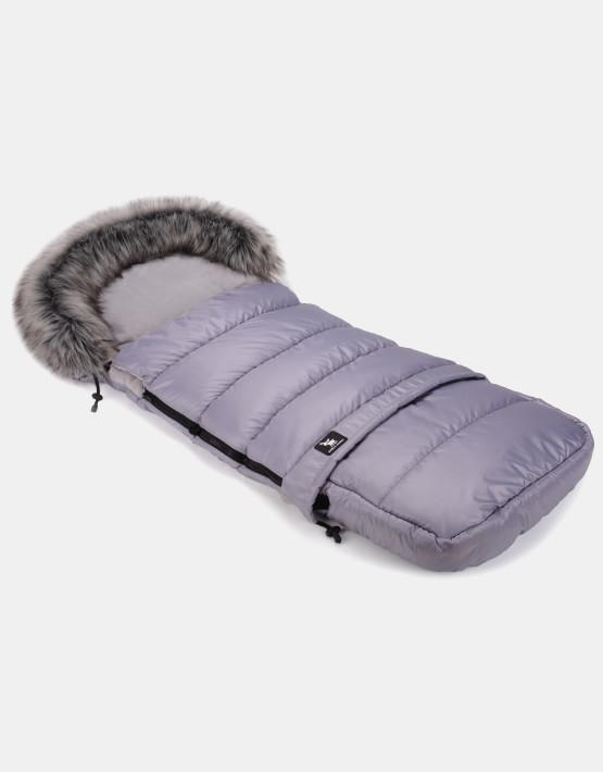 Cottonmoose Footmuff Moose Combi mit Fell Grau - Grau