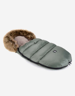Cottonmoose Footmuff Moose Grün - Latte