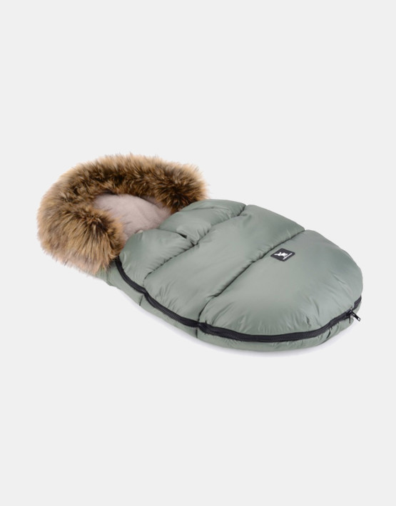 Cottonmoose Footmuff Mini Moose Grün - Latte