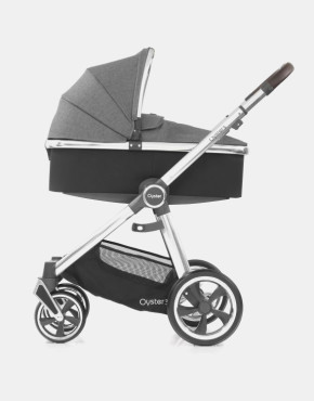 Babystyle Oyster 3.0 Mercury Silbernes Gestell 2in1 mit Babywanne