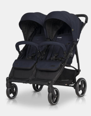 Easy Go Domino Zwillings-Sportwagen & Geschwisterwagen 2in1 Cosmic Blue