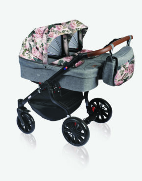 Dorjan Quick Twin TQ19 Grau-Blumen 2in1