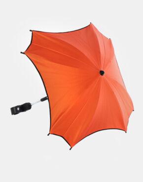 Junama Sonnenschutzschirm Ekoleder Kollektion Orange -Schwarz