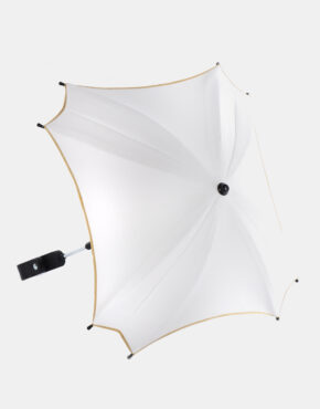 Junama Sonnenschutzschirm Ekoleder Kollektion Weiß - Gold