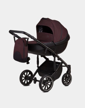 Anex M/Type Lila Sp28 Q Grape Kollektion 2020 3in1 + Cybex Aton M i-Size Deep Black