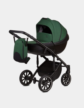 Anex M/Type Dunkelgrün Sp27 Q Lime Kollektion 2020 3in1 + Cybex Aton M i-Size Deep Black