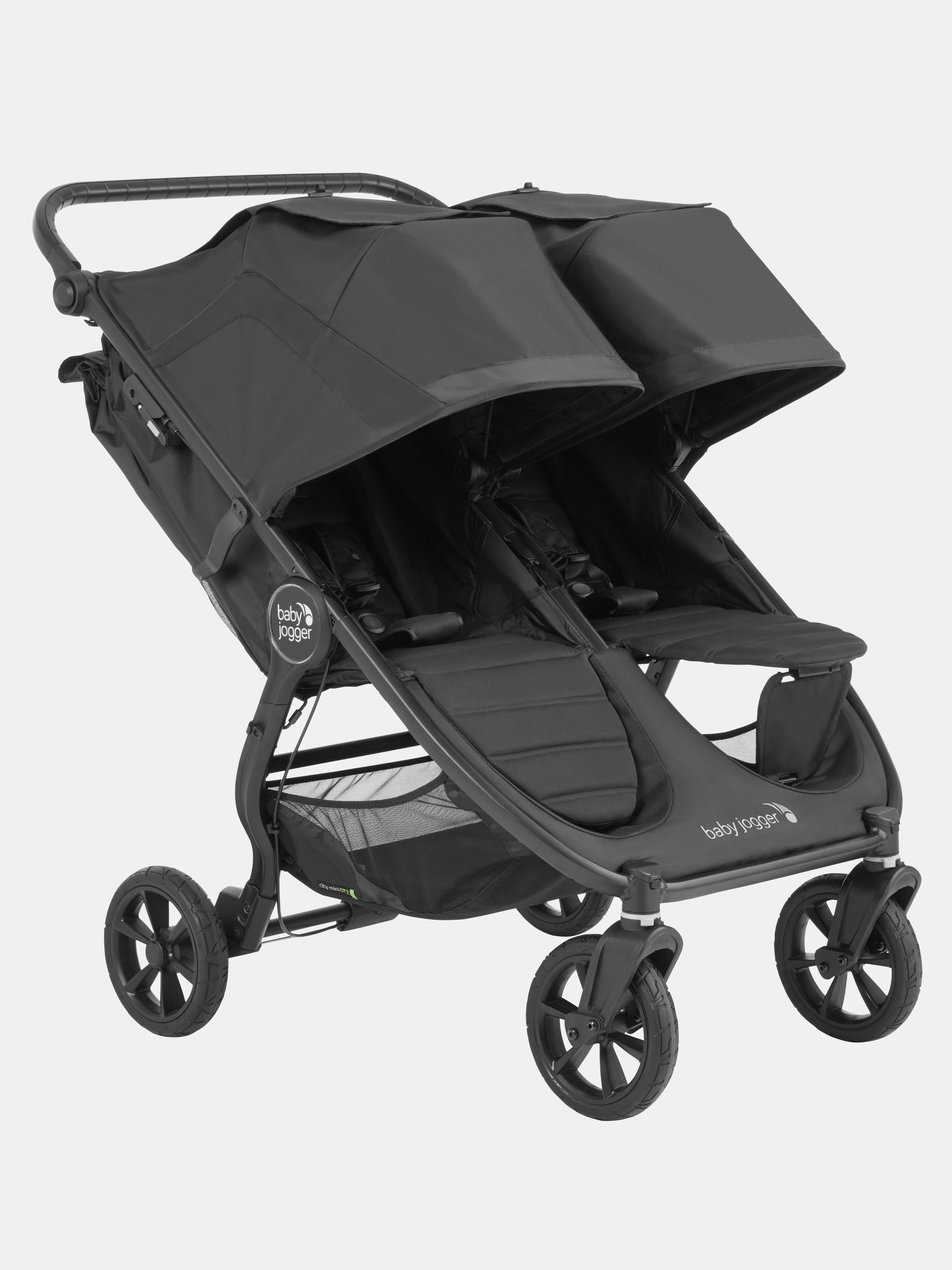 Baby Jogger City Mini 2 3-Rad Buggy Jet Bundle mit Wetterschutz /& Ablageschale schwarz