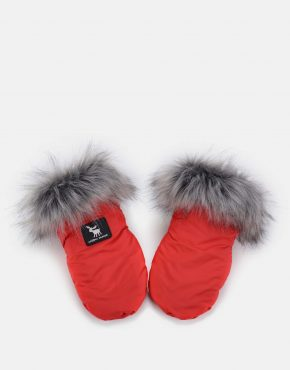 Cottonmoose HandMUFF Red Grey