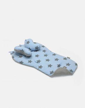 Cottonmoose Kinderwagen-Einlage 552/26/49 Blau Melange