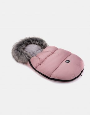 Cottonmoose Footmuff Mini Moose Rose Grau
