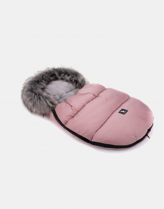 Cottonmoose Footmuff Mini Moose Rose Grau